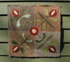 I'd love to make quilt blocks like this in browns and reds