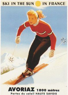 Vintage Ski Ad #Avoriaz #haute-Savoie #alps