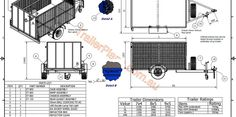 www.trailerplans.com.au Build your own CAGE TRAILER - Trailer Plans - Designs & drawings for trailer construction Trailer Plans, Trailer Build, Cage Trailer, Mobile Home Doublewide, Homemade Tractor, Step Van, Camper Trailers, Campers, Storage Shed Plans