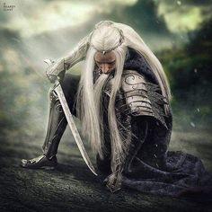 Thranduil 12 inch cm) poseable action figure from Asmus Toys. Hobbit Art, O Hobbit, Legolas And Thranduil, Thranduil Cosplay, Elf King, Armadura Medieval, J. R. R. Tolkien, Wood Elf, Elvish