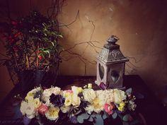 #weddingintuscany #weddingincastle #castleilpalagio #centerpiece blusa and #plum colors by #violamalva