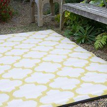 TANGIER 1.2M x 1.8M OUTDOOR RUG in Celery & White