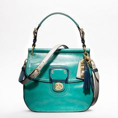 Coach new leather colorblock new willis bag 1