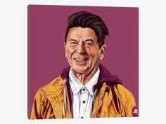 """Reagan by Amit Shimoni Canvas Print 26"""" L x 26"""" H x 0.75"""" D - eWallArt"""