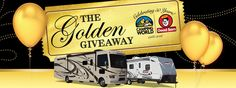 Play Camping World's Golden Instant Win Game for a chance to win 1 of prizes or the Grand Prize of a 2016 Thor Windsport Class A Motorhome. Instant Win Sweepstakes, Shopping Spree, Before Christmas, Coupons, Contents, Giveaways, Thor, Camping, Shelves