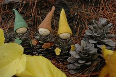 Great Fall Decoration Pinecone Gnomes