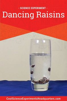 Ready to make some raisins dance?? In this easy science experiment, your young scientists will learn about the effects of density and buoyancy. #scienceexperiments #scienceforkids #stem #density #bouyancy #coolscienceexperimentshq