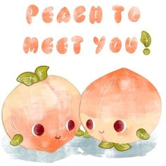 Peach to meet you! Art Print ($18) ❤ liked on Polyvore featuring home, home decor, wall art and peach wall art