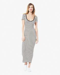 Edith A. Miller Scoop Neck S/S Maxi Dress | LuckyShops