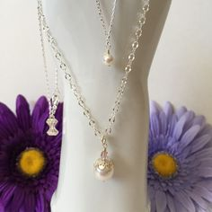 Mother/Daughter Pearl Princess Necklace from Creations by C&C Dominique Moceanu Signature Collection for $158.00