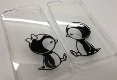 need this!!! iPhone 4/4s Clear Case with Penguin w/Bow by StudioSevenCindy, $17.99