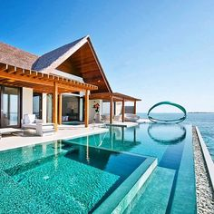 Tag who you'd swim with in this beautiful private pool in the #maldives @chinmoylad Snapchat: MRLUXELIFE by mrluxelife
