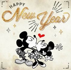 Happy New Year! Mickey & Minnie - Happy New Year 2018 , Disney Happy New Year, Disney New Years Eve, Happy New Year Funny, Happy New Year Message, Happy New Year Quotes, Happy New Year Images, Happy New Year Cards, Happy New Year 2018, New Year Greeting Cards