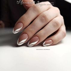 Nail Art Designs and Ideas 2019 - NailGet - Get The Best Nail Designs nageldesign 2019 Nail Art Designs and Ideas 2020 Bridal Nails French, Bridal Nail Art, French Nail Art, French Nail Designs, Nail Art Designs, French Manicure With Design, Frensh Nails, French Manicure Nails, French Tip Nails