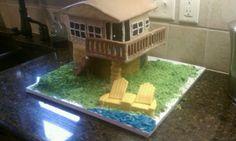 Lake House replica cake