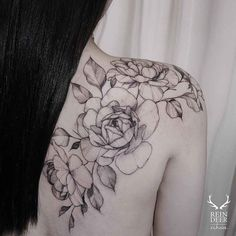 ** Flower Tattoos On Shoulder Blade | Greatest Tattoo Concepts Gallery