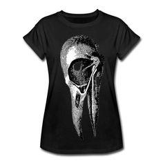 Crow Bird Skull Skeleton 100% Organic by WinkinBitsyClothing
