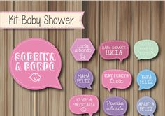 Photobooth Props Cartelitos Kit Baby Shower Personalizado - $ 200,00