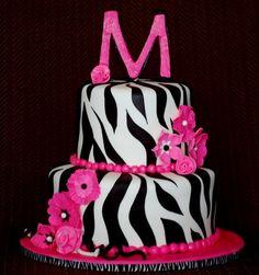 baby shower cakes for a girl zebra print | CakeFilley: Zebra Baby Shower Cake
