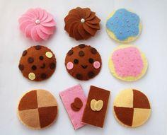 DIY felt Lovely Cookie set11 in 1PDF Pattern via by fairyfox