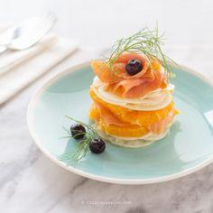 Carpaccio di salmone, arancia e finocchio - Chiarapassion