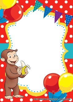 Let's have pleasure and enjoy a little bit fun. Let your children leap and scream all around. Hello everyone, does your child like to view a curious George invitations? I'm trying to offer you interesting thoughts for the George birthday event today. Curious George Games, Curious George Party, Curious George Birthday, Curious George Invitations, Monkey Invitations, Disney Invitations, Free Birthday Invitation Templates, 1st Birthday Party Invitations, Templates Free