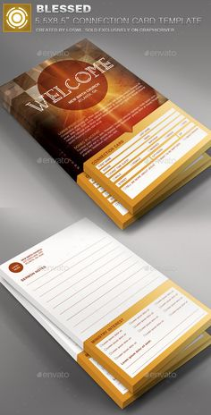 Church invite cards in business card size 325 includes fully blessed church connection card template cards invites print templates reheart Gallery