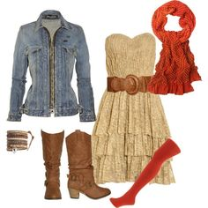 Jean Jacket, Lace Dress