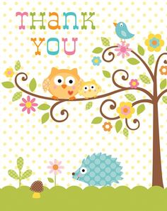 Happi Tree Baby Shower Thank You Cards (pkg of 8)