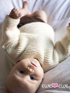 Ewe Ewe Yarns Beach Bum Baby Pullover Knitting Pattern