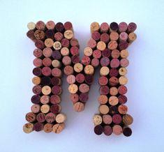 Wine Cork Monogram, Wine Cork Letters, Wine Cork Art, Wine Cork Crafts, Wine Cork Table, Wine Cork Wedding, Wine Colored Wedding, Wedding Wall, Wine Cork Coasters