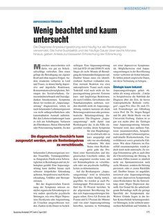 Anpassungsstörungen: Wenig beachtet und kaum untersucht - PP 6, Ausgabe April 2007