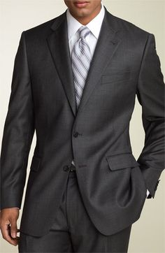 Joseph Abboud Grey Wool Suit  For the groom. :)