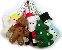 Felt set of Christmas Decorations by bagladee on Etsy