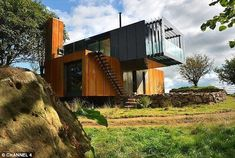 This recently constructed shipping container home is another prime example of just how versatile cargotecture really can be. Irish architect and farmer Patrick Bradley built this home using four shipping containers, which he obtained from the Belfast Docks.