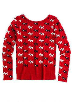 Scottie Dog sweater. I'd totally wear this to Christmas parties.