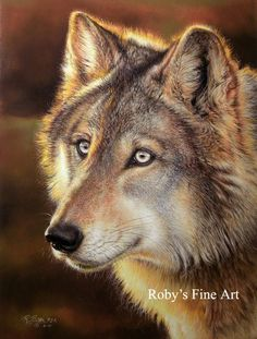 Timber Wolf Giclee Print Wildlife Art by Roby Baer PSA by RobyBaer, $7.50