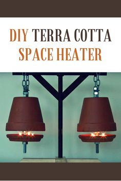 Warm up a drafty room or chilly patio with this DIY space heater made from terracotta pots.