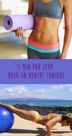 Pour gainer son ventre et afficher une taille fine, il suffit de 5 minutes par jour avec cet exercice d'abdominaux en vidéo, et à vous, un ventre bien ferme et tonique.