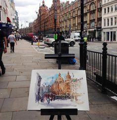 "224 Likes, 3 Comments - A Travel Diary (@_atraveldiary_) on Instagram: ""UK - @kamieshkova - Tag #atraveldiary and indicate the country where you created your drawing.…"""