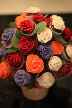 Beautiful cupcake bouquet  p. lynch's birthday cake