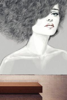raumkleid1 Wands, Female, Design, Collection, Art, Dress, Wall Design, Wallpapers, Artworks