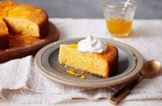 Orange polenta cake with honey syrup | Tesco Real Food