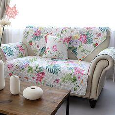 Cheap furniture slipcovers, Buy Quality sofa cover cotton directly from China sofa cover Suppliers: Free ship American style blue striped floral print quilting Sofa cover cotton furniture slipcovers for sectional sofa Sofa Design, Bed Cover Design, Sofa Covers Online, Sofa Makeover, Floral Sofa, Striped Sofa, Printed Sofa, Living Room Decor Cozy, Buy Sofa