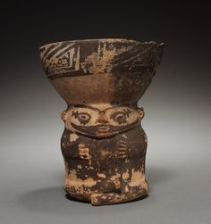 Peru, Pachacamac, Century, pottery, Overall: x x cm x 5 x 5 inches). Historical Artifacts, Ancient Artifacts, Ceramic Pottery, Ceramic Art, Cleveland Museum Of Art, Ceramic Figures, Minoan, Indigenous Art, 12th Century