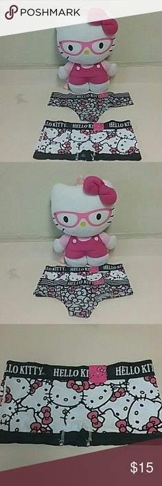 ♡Hello Kitty Panties♡ These adorable hello kitty panties are so comfortable I went out and bought extra just to list for sale cuz I wanna share the comfort♡♡♡bith sold together and both pair are size Medium. Bith new with tags.  Free gift with purchase same or next day shipping is ALWAYS guaranteed Hello Kitty Intimates & Sleepwear Panties