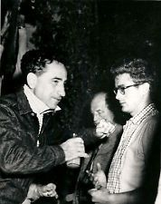 "James Dean and Elia Kazan during the filming of ""East of Eden"""