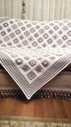 Crochet blanket teyze cicisi elemeği göznuru