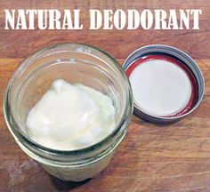 Coconut oil/baking soda/(Ill use potato not corn) starch homemade deodorant. Pinning to save for when I need it! darciemg
