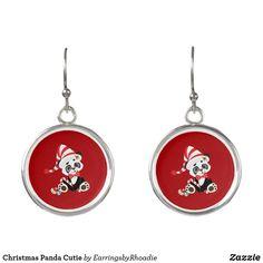 Christmas Panda Cutie Earrings